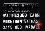 Image of waitresses Hollywood Los Angeles California USA, 1938, second 7 stock footage video 65675041435