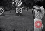 Image of Archery girls Los Angeles California USA, 1937, second 23 stock footage video 65675041450