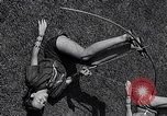 Image of Archery girls Los Angeles California USA, 1937, second 38 stock footage video 65675041450
