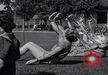 Image of Archery girls Los Angeles California USA, 1937, second 52 stock footage video 65675041450