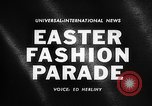 Image of Easter Fashion Parade Miami Florida USA, 1961, second 2 stock footage video 65675041460