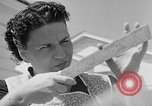 Image of Louella Gallagher knife throwing stunt Austin Texas USA, 1950, second 6 stock footage video 65675041468