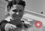 Image of Louella Gallagher knife throwing stunt Austin Texas USA, 1950, second 9 stock footage video 65675041468