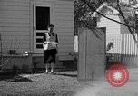 Image of Louella Gallagher knife throwing stunt Austin Texas USA, 1950, second 10 stock footage video 65675041468