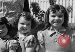 Image of Louella Gallagher knife throwing stunt Austin Texas USA, 1950, second 27 stock footage video 65675041468