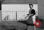Image of Louella Gallagher knife throwing stunt Austin Texas USA, 1950, second 28 stock footage video 65675041468