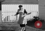 Image of Louella Gallagher knife throwing stunt Austin Texas USA, 1950, second 29 stock footage video 65675041468