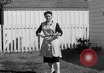 Image of Louella Gallagher knife throwing stunt Austin Texas USA, 1950, second 30 stock footage video 65675041468