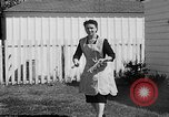 Image of Louella Gallagher knife throwing stunt Austin Texas USA, 1950, second 31 stock footage video 65675041468