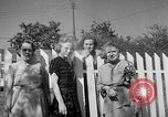 Image of Louella Gallagher knife throwing stunt Austin Texas USA, 1950, second 34 stock footage video 65675041468