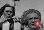 Image of Louella Gallagher knife throwing stunt Austin Texas USA, 1950, second 54 stock footage video 65675041468