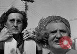 Image of Louella Gallagher knife throwing stunt Austin Texas USA, 1950, second 55 stock footage video 65675041468