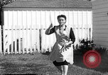 Image of Louella Gallagher knife throwing stunt Austin Texas USA, 1950, second 56 stock footage video 65675041468