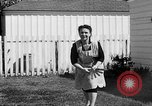 Image of Louella Gallagher knife throwing stunt Austin Texas USA, 1950, second 57 stock footage video 65675041468