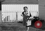 Image of Louella Gallagher knife throwing stunt Austin Texas USA, 1950, second 58 stock footage video 65675041468