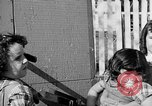 Image of Louella Gallagher knife throwing stunt Austin Texas USA, 1950, second 62 stock footage video 65675041468
