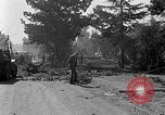 Image of F-86 Sabre jet crashes into residential neighborhood during landing Signal Hill California USA, 1954, second 40 stock footage video 65675041488