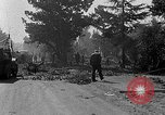 Image of F-86 Sabre jet crashes into residential neighborhood during landing Signal Hill California USA, 1954, second 42 stock footage video 65675041488