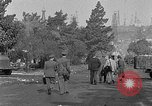 Image of F-86 Sabre jet crashes into residential neighborhood during landing Signal Hill California USA, 1954, second 47 stock footage video 65675041488