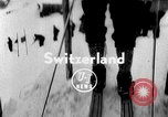 Image of skiing competition Switzerland, 1954, second 1 stock footage video 65675041496