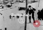 Image of skiing competition Switzerland, 1954, second 2 stock footage video 65675041496