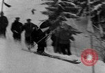 Image of skiing competition Switzerland, 1954, second 15 stock footage video 65675041496