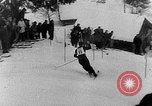 Image of skiing competition Switzerland, 1954, second 19 stock footage video 65675041496