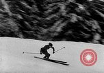 Image of skiing competition Switzerland, 1954, second 31 stock footage video 65675041496