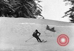 Image of skiing competition Switzerland, 1954, second 33 stock footage video 65675041496