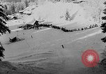 Image of skiing competition Switzerland, 1954, second 49 stock footage video 65675041496