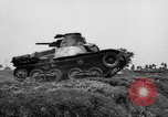 Image of Japanese tank crosses ditch India, 1944, second 19 stock footage video 65675041509