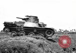 Image of Japanese tank crosses ditch India, 1944, second 30 stock footage video 65675041509