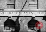 Image of World War 2 Merchant Seamans Club West 43rd Street New York City USA, 1943, second 24 stock footage video 65675041519