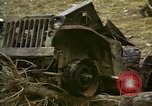 Image of Wrecked U.S. military trucks after Hoengsong massacre Hoengsong Korea, 1951, second 5 stock footage video 65675041618