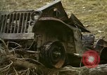 Image of Wrecked U.S. military trucks after Hoengsong massacre Hoengsong Korea, 1951, second 9 stock footage video 65675041618