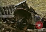 Image of Wrecked U.S. military trucks after Hoengsong massacre Hoengsong Korea, 1951, second 11 stock footage video 65675041618