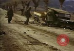 Image of Wrecked U.S. military trucks after Hoengsong massacre Hoengsong Korea, 1951, second 27 stock footage video 65675041618