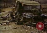 Image of Wrecked U.S. military trucks after Hoengsong massacre Hoengsong Korea, 1951, second 32 stock footage video 65675041618