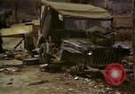 Image of Wrecked U.S. military trucks after Hoengsong massacre Hoengsong Korea, 1951, second 34 stock footage video 65675041618