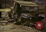 Image of Wrecked U.S. military trucks after Hoengsong massacre Hoengsong Korea, 1951, second 35 stock footage video 65675041618