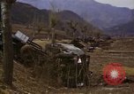 Image of Wrecked U.S. military trucks after Hoengsong massacre Hoengsong Korea, 1951, second 50 stock footage video 65675041618