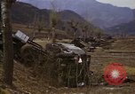 Image of Wrecked U.S. military trucks after Hoengsong massacre Hoengsong Korea, 1951, second 51 stock footage video 65675041618