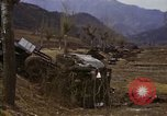 Image of Wrecked U.S. military trucks after Hoengsong massacre Hoengsong Korea, 1951, second 52 stock footage video 65675041618