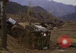 Image of Wrecked U.S. military trucks after Hoengsong massacre Hoengsong Korea, 1951, second 53 stock footage video 65675041618