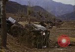 Image of Wrecked U.S. military trucks after Hoengsong massacre Hoengsong Korea, 1951, second 54 stock footage video 65675041618