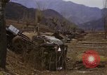 Image of Wrecked U.S. military trucks after Hoengsong massacre Hoengsong Korea, 1951, second 57 stock footage video 65675041618