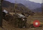 Image of Wrecked U.S. military trucks after Hoengsong massacre Hoengsong Korea, 1951, second 60 stock footage video 65675041618