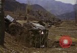 Image of Wrecked U.S. military trucks after Hoengsong massacre Hoengsong Korea, 1951, second 61 stock footage video 65675041618