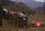 Image of Wrecked U.S. military trucks after Hoengsong massacre Hoengsong Korea, 1951, second 62 stock footage video 65675041618