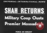 Image of Reza Pahlavi coup against Mosaddegh Iran, 1953, second 3 stock footage video 65675041646